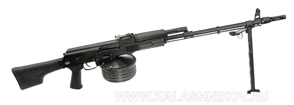 Магазин большой вместимости на 100 патронов на пулемёте РПК74М