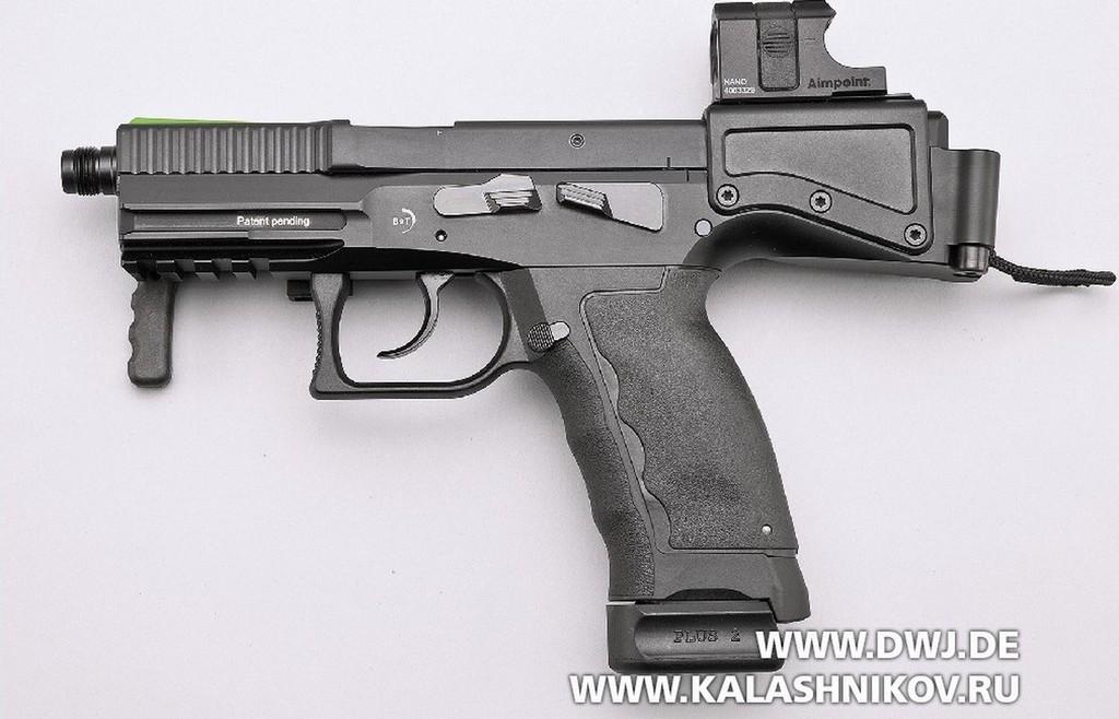 Пистолет USW A1. Вид слева