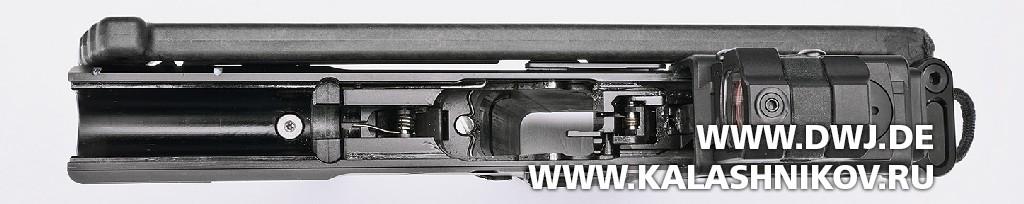 Пистолет USW A1. со снятым затвором