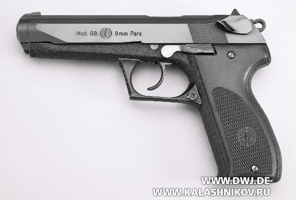 Пистолет Steyr GB, вид слева