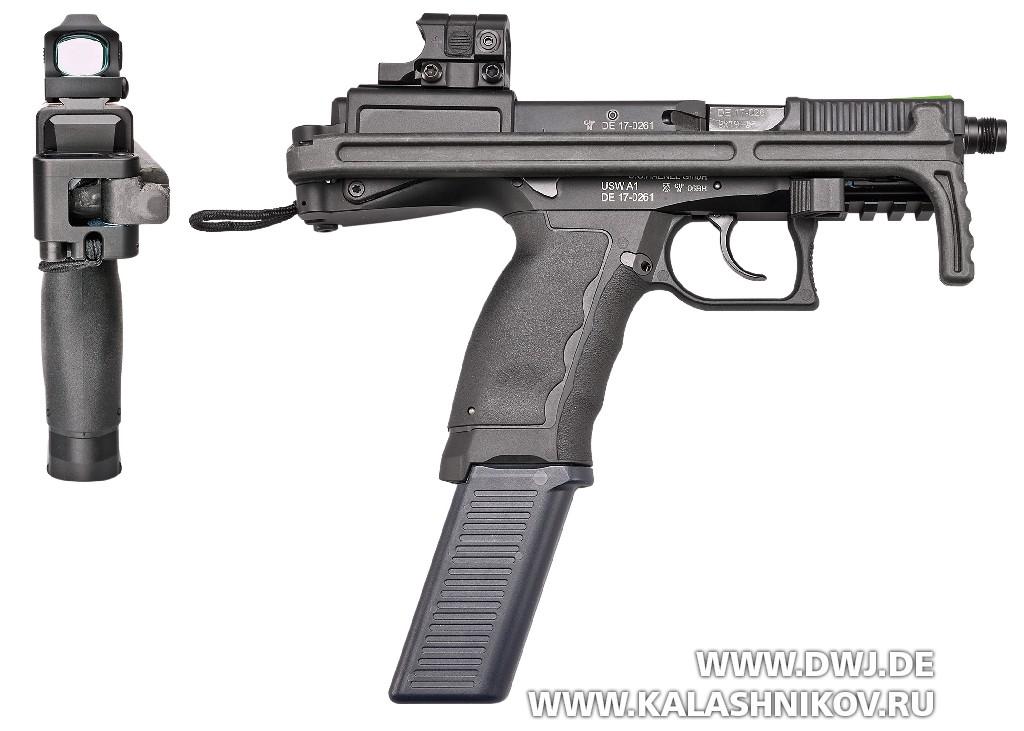 Пистолет USW A1. Вид справа