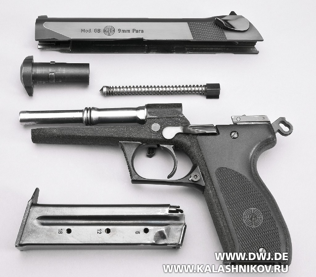 Пистолет Steyr GB неполная разборка