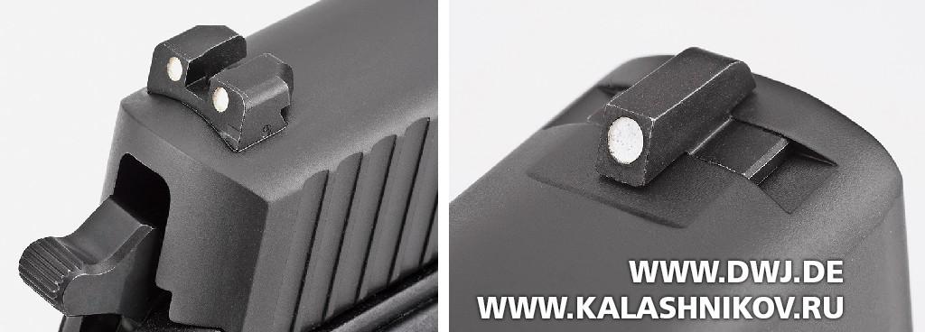 Пистолет SIG Sauer P226. Прицельные приспособления