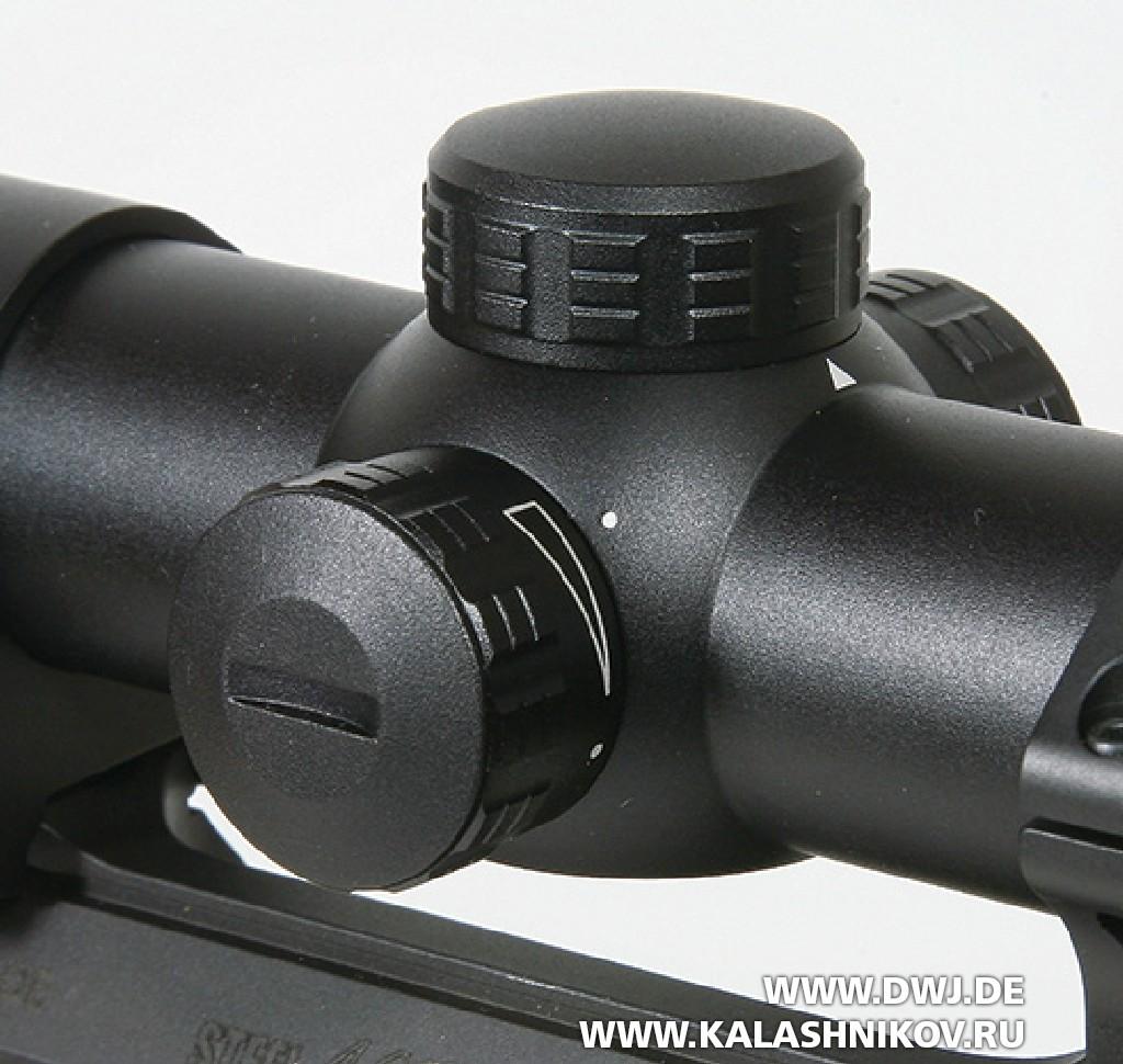 Оптический прицел Kahles Helia 2–10x50i. Барабанчики регулировки