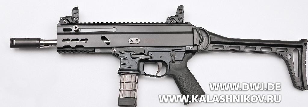 Пистолет-карабин Stribog SP9 A1. Вид справа