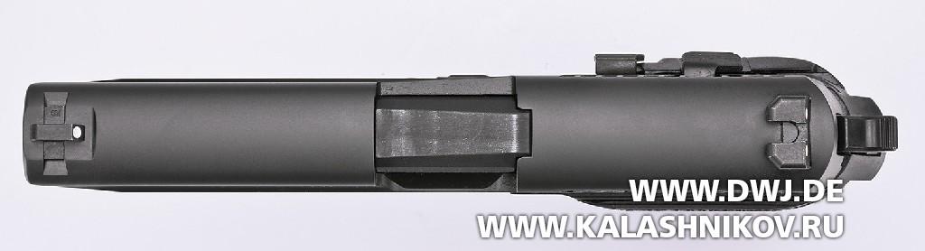 Пистолет SIG Sauer P226. Вид сверху