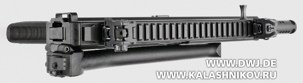 Пистолет-карабин Stribog SP9 A1. Вид сверху