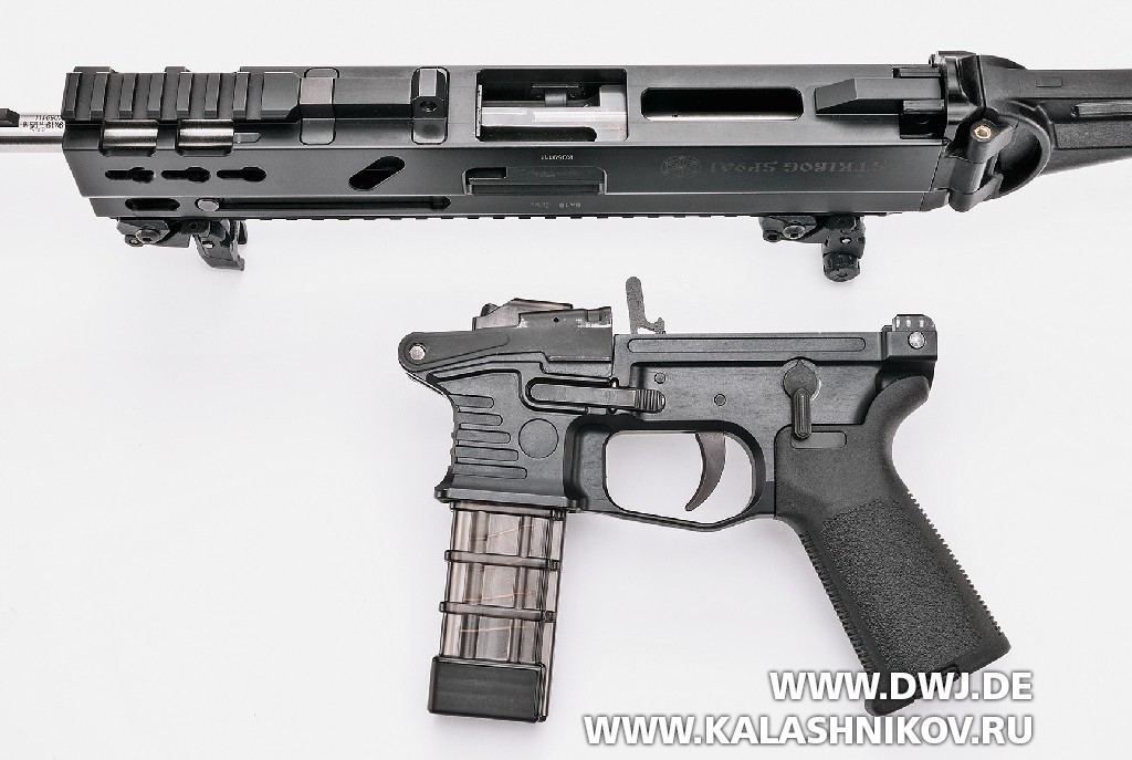 Пистолет-карабин Stribog SP9 A1. Неполная разборка
