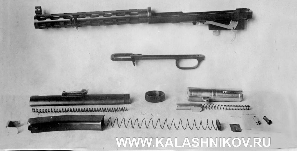 Неполная разборка ПП №2  (пистолета-пулемёта Дегтярёва №2)