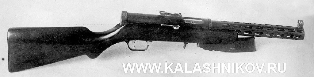 ПП №4  (пистолет-пулемёт Дегтярёва №4)  в походном положении