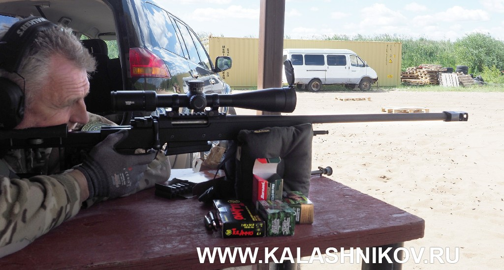 Начальник стрельбища ССК «Невский» Вячеслав Валуца стреляет из винтовки Zastava LK M07AS Match