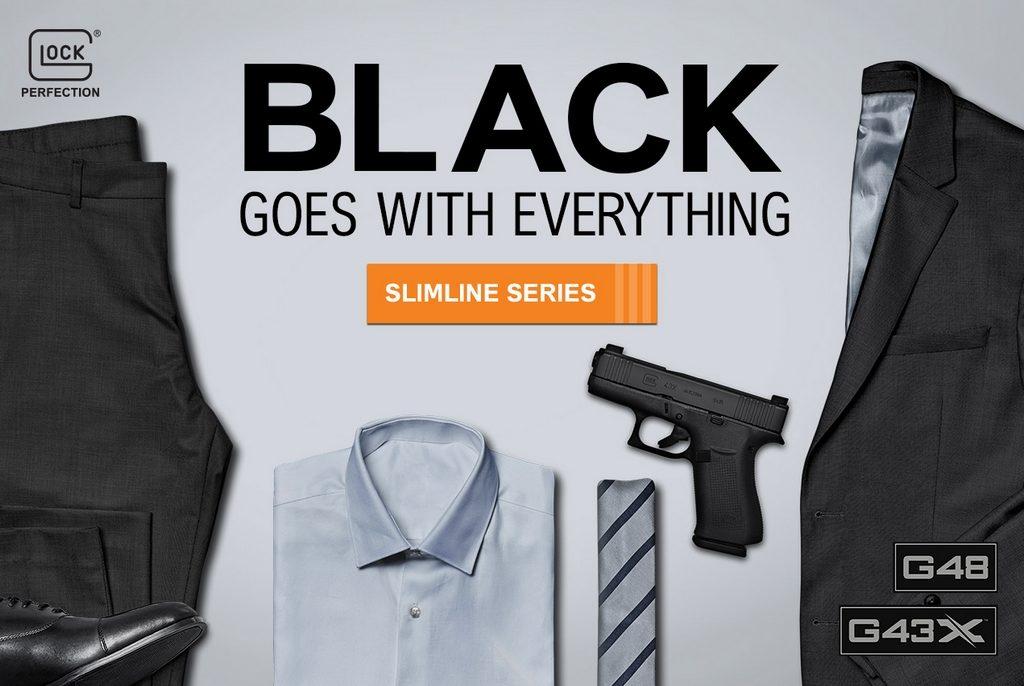 Glock G43X, Glock G48, black, pistol