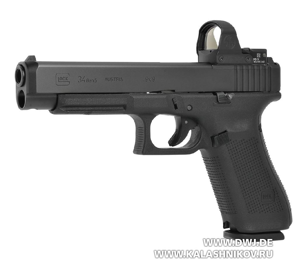 Пистолет Glock 34 MOS Gen5 с коллиматорным прицелом