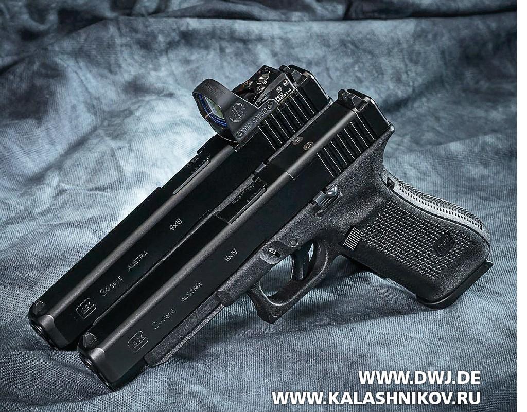 Пистолеты Glock 34 с коллиматорным прицелом