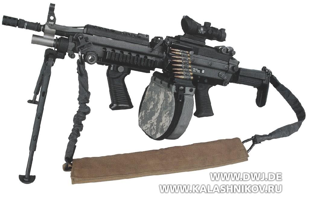 Пулемёт FN MINIMI Para. Укороченный вариант