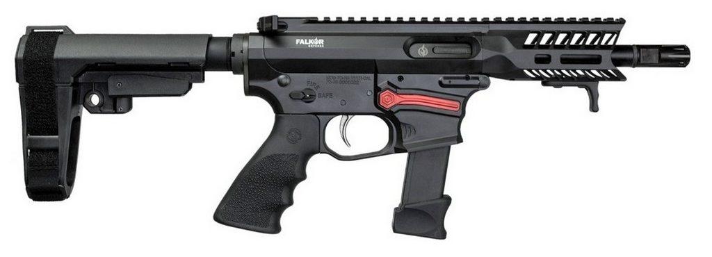 Пистолет-карабин, затворная задержка, вид справа, Falkor Defense, FG-9