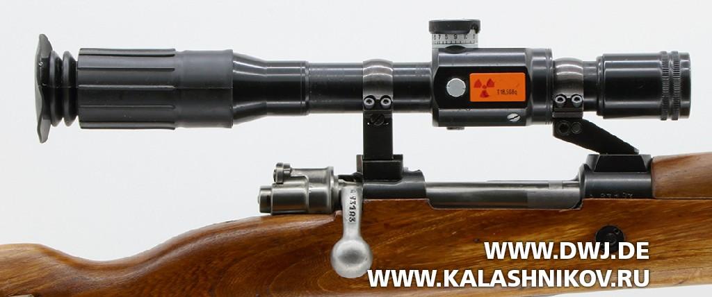 Винтовка Zastava M 48B с установленным прицелом