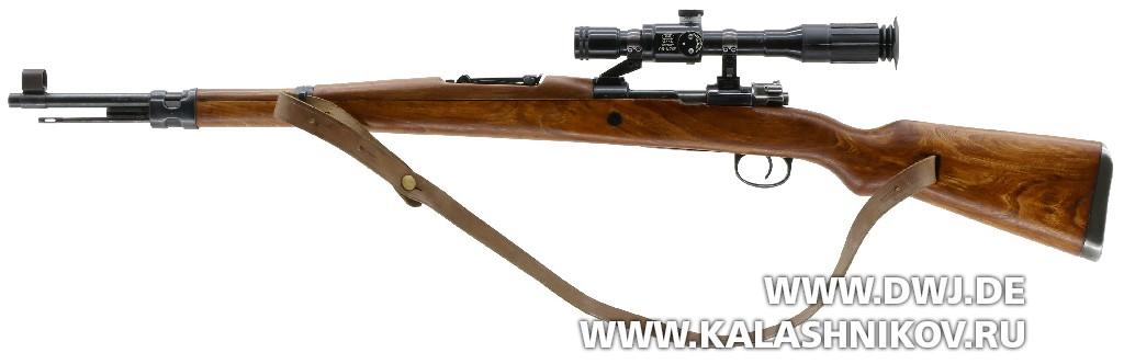 Винтовка Zastava M 48B. Поворотный кронштейн, общий вид винтовки