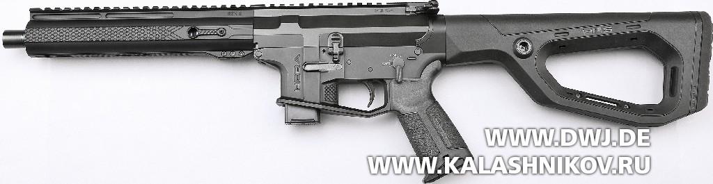 Карабин Hera Arms AR-15 калибра 9 mm Luger. Вид слева