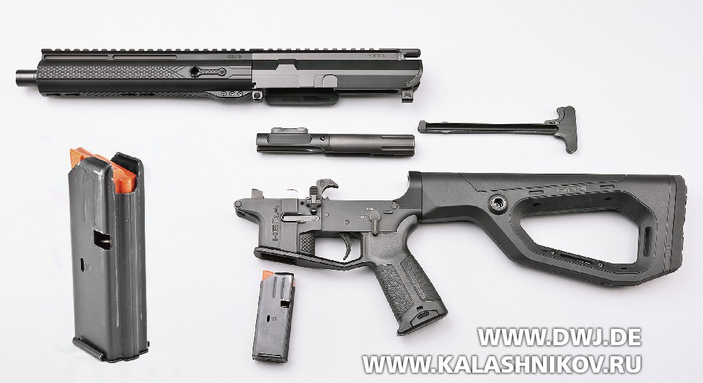 Карабин Hera Arms AR-15 калибра 9 mm Luger. Неполная разборка