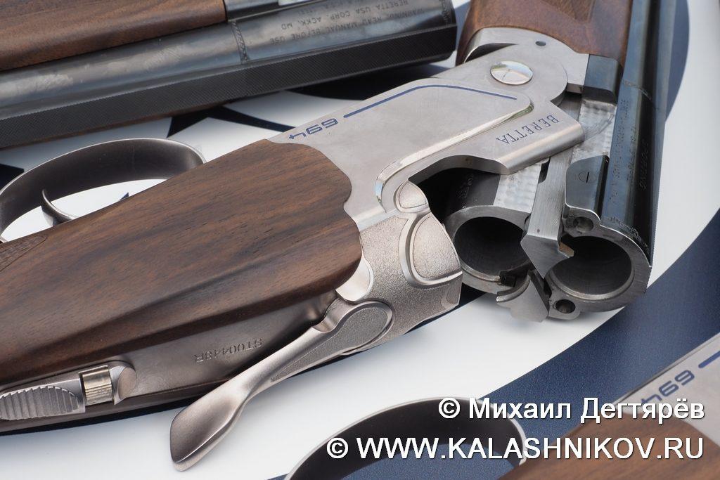 Beretta 694, замок, двустволка, рычаг отпирания ружья, 12 калибр. патронник