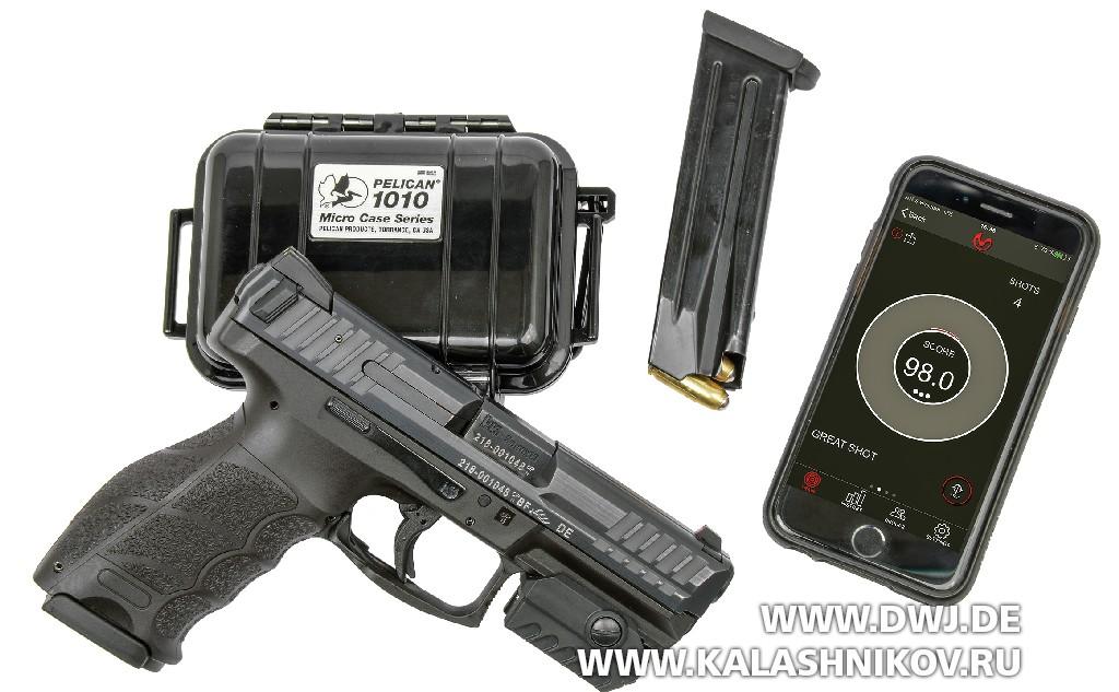 Тренировочный стрелковый модуль MantisX для смартфона