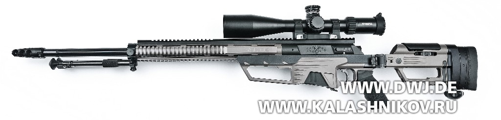 Высокоточная винтовка Steel Core Designs Cyclone калибра .308 Winchester. Вид слева
