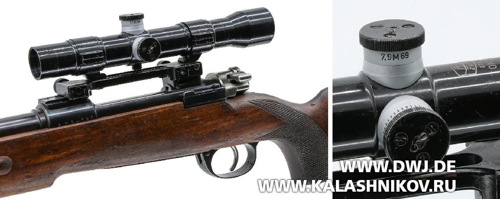 Югославская снайперская винтовка М1969. Штатный оптический прицел