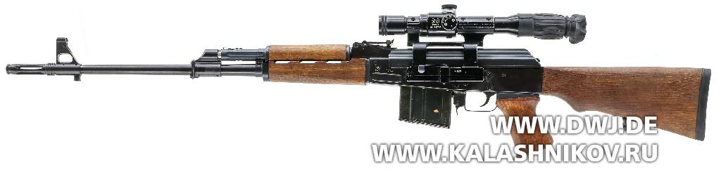 Югославская снайперская винтовка SSG М76. Вид слева