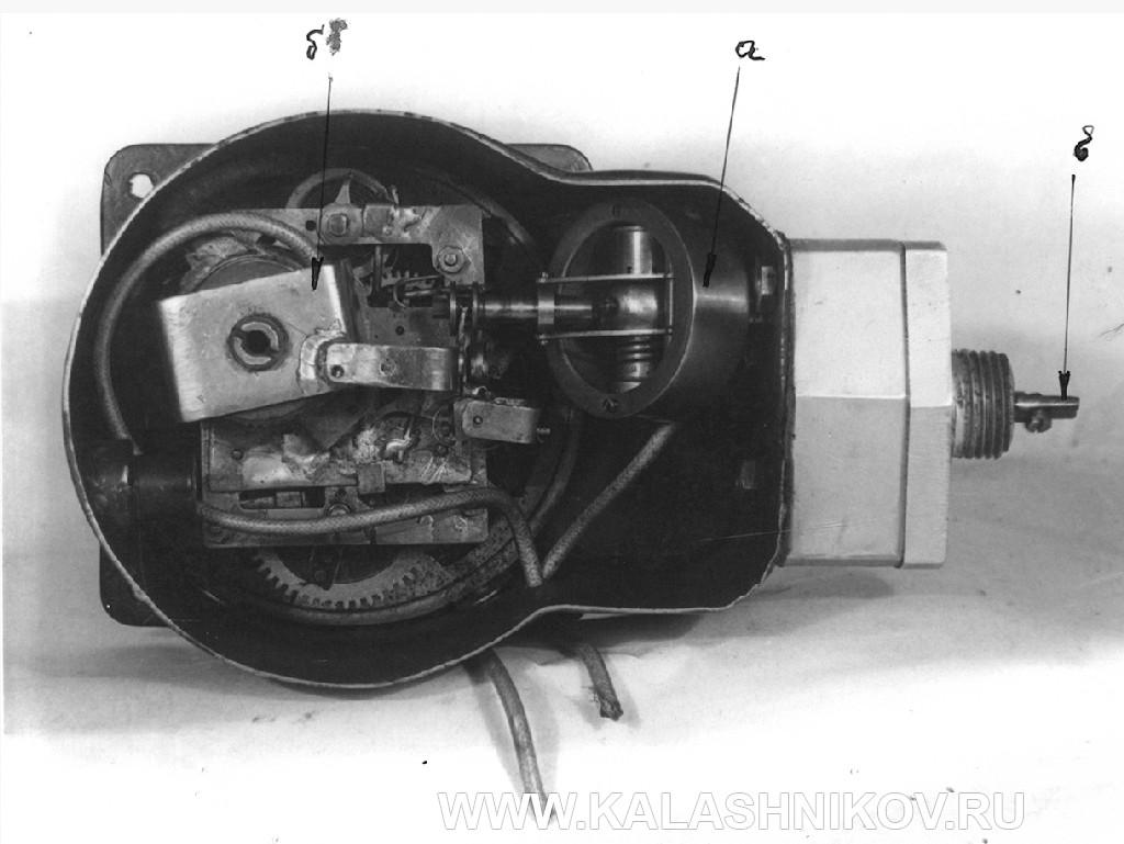 Счетчик танкового моторесурса Калашникова. Механизм