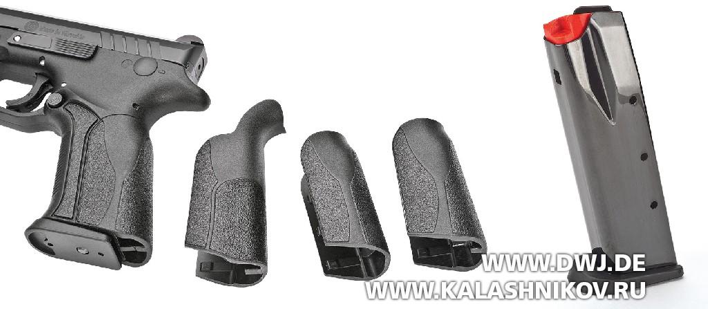 Пистолет Grand Power X-Calibur. Сменные спинки рукоятки и магазин