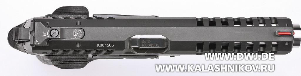 Пистолет Grand Power X-Calibur. Вид сверху