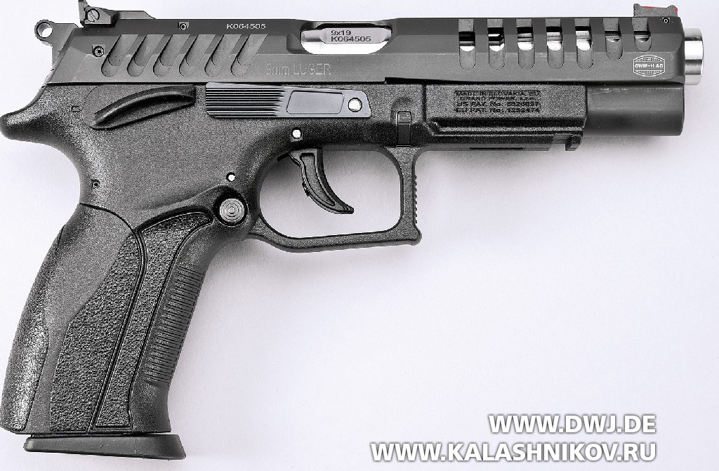 Пистолет Grand Power X-Calibur. Вид справа