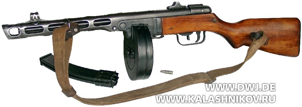 Пистолет-пулемёт Шпагина (ППШ-41) с барабанным магазином
