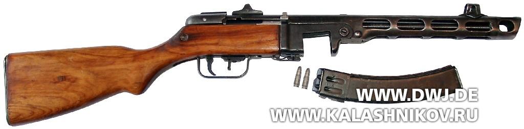 Пистолет-пулемёт Шпагина (ППШ-41) позднего периода выпуска