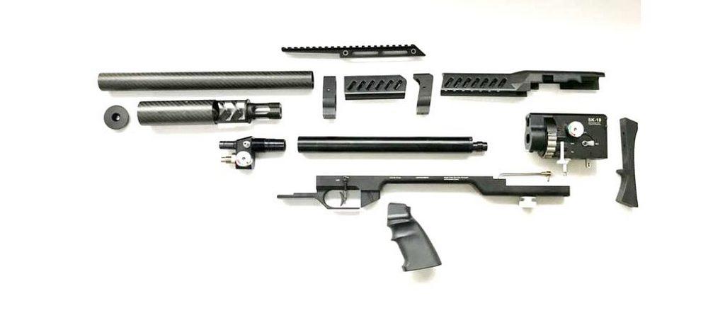 LCS SK-19, пневматическая винтовка, разборка