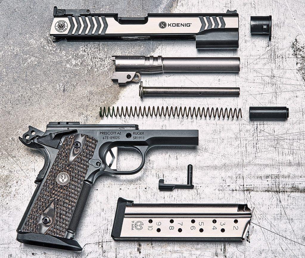 пистолет, неполная разборка
