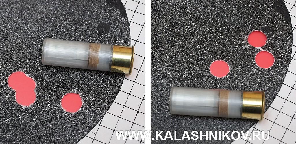 Мишени с результатами стрельбы из ружья Kral M155 патронами с пулями Техкрим «Л-2»