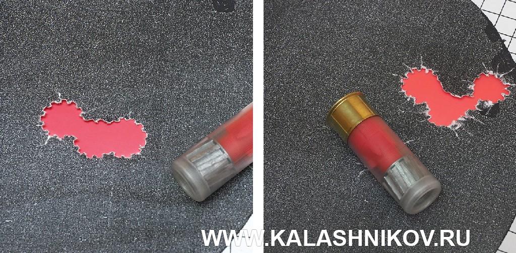 Мишени с результатами стрельбы из ружья Kral M155 патронами с пулями Техкрим УНО 28