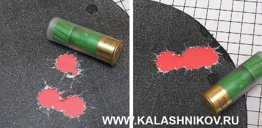 Мишени с результатами стрельбы из ружья Kral M155 патронами с пулями Техкрим УНО 35