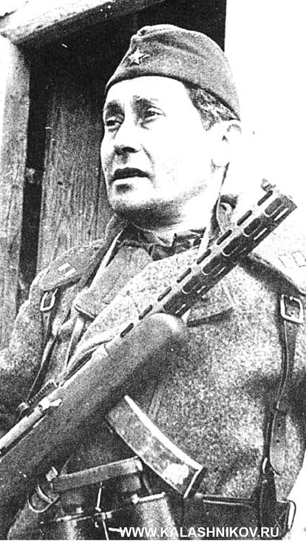 Солдат с ППД-34