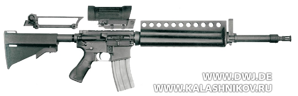 Винтовка Colt ACR Rifle. Вид справа