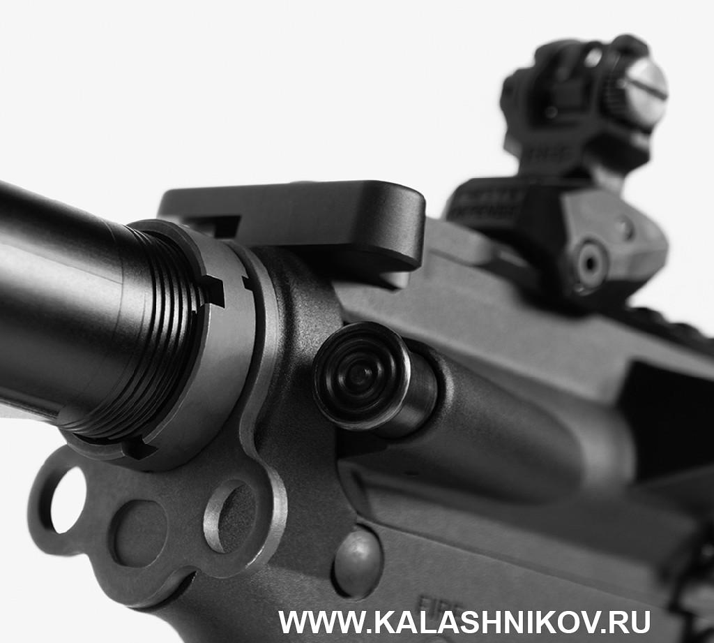 Полуавтоматический карабин ORSIS-AR15J. Кнопка докрытия затвора