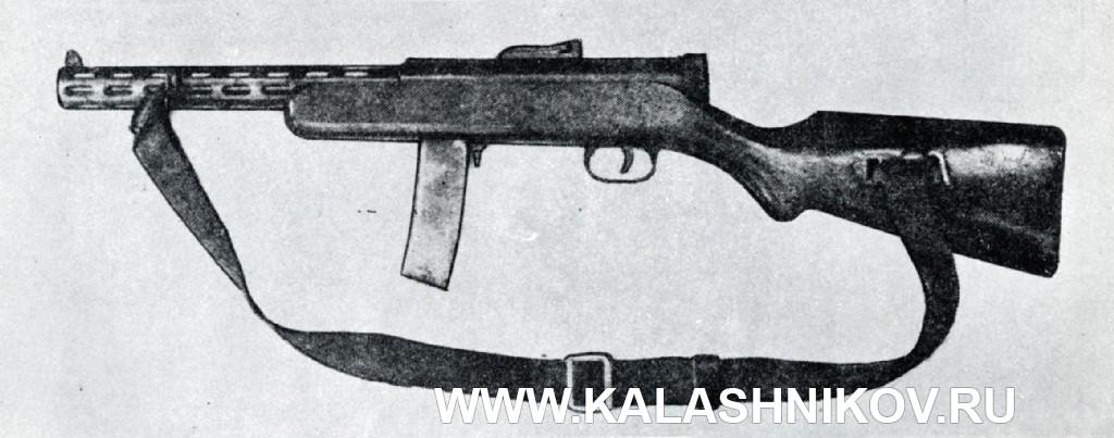ППД-34 из американского справочника по стрелковому оружию Small Arms of The World, издание 1951 г.