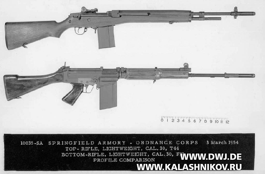 Винтовки Т48 (FAL) и Т44 (M14)