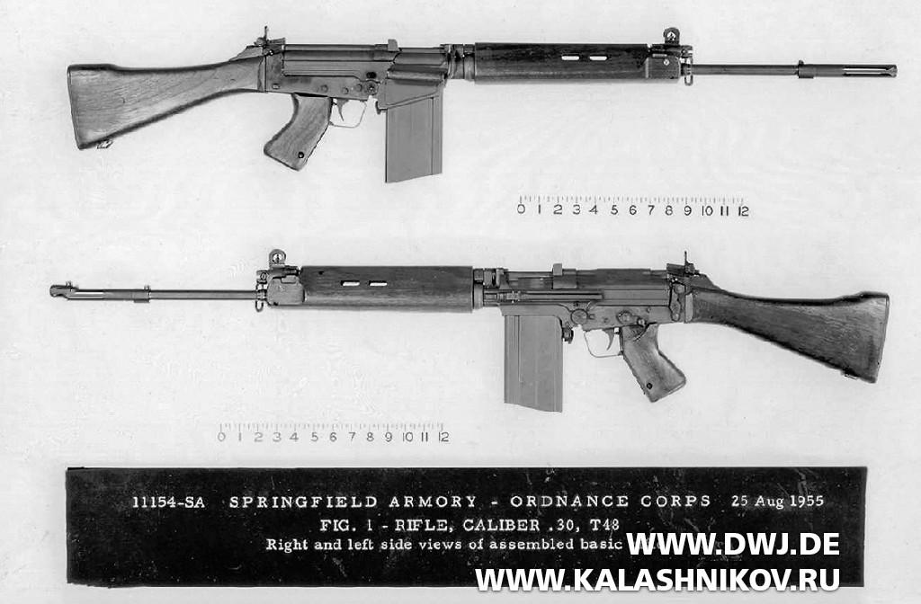 Винтовки Т48 вавгусте 1955 г