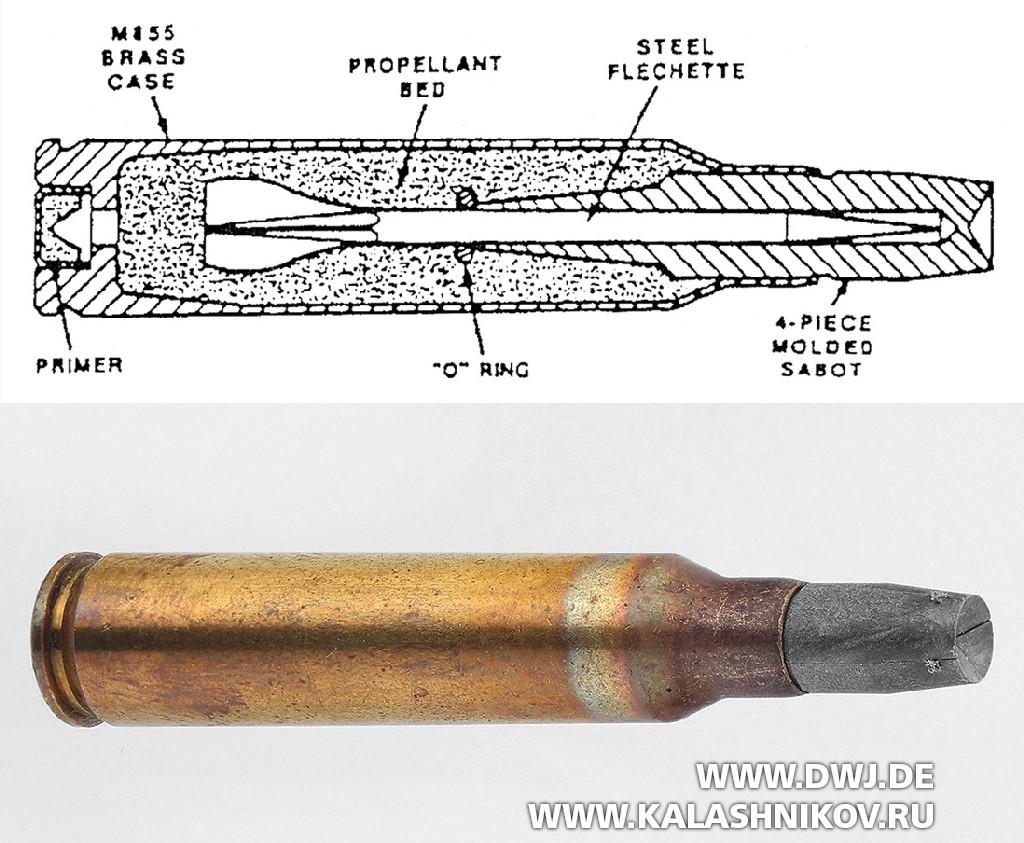 Устройство стреловидного патрона AAI ACR калибра 5,56х45 со стрелой иподдоном