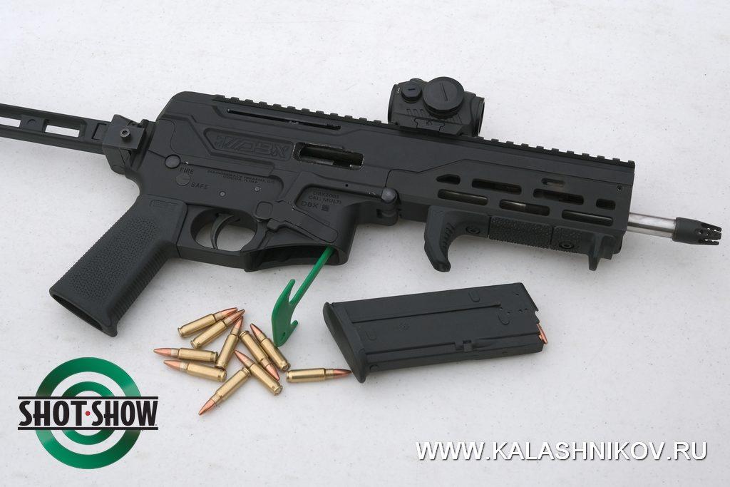 5,7х28, пистолет-карабин, DBX, лас-вегас новое оружие, стрелковый день, shot show 2020,