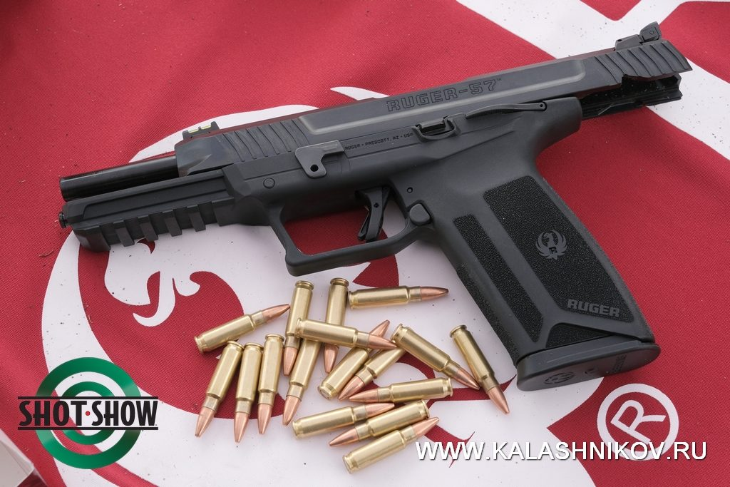 ruger-57, new pistol, 5,7x28, small caliber, shot show 2020, range day 2020, пистолет