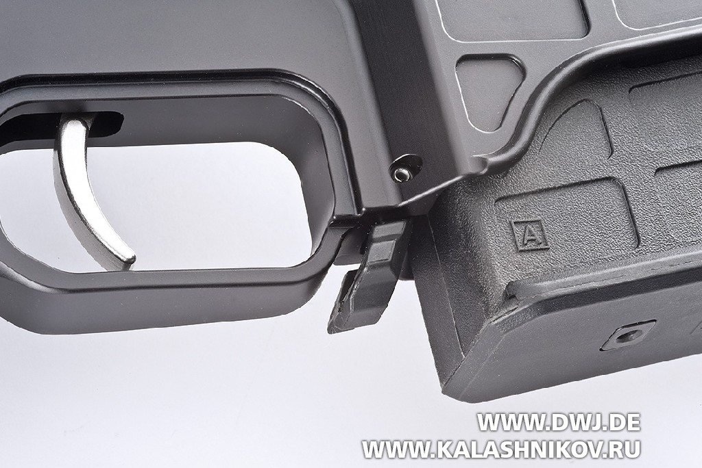Тактическая винтовка Barrett MRAD. кнопка защелки магазина